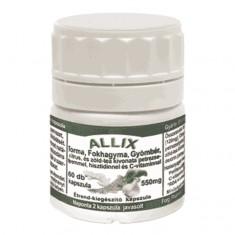 Allix torma, fokhagyma, gyömbér, citrus, és zöld-tea kivonata
